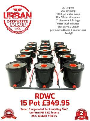 20L 15 Pot System (3Lane) For Grow Tent 2.4 x 2.4 600W Lamp  R Roots Propagator
