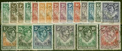 Northern Rhodesia 1938-52 set of 21 SG25-45 Fine Used