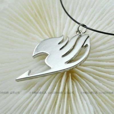 NEW Fairy Tail LOGO The union flag Sign cosplay necklace pendant Silver