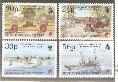 1995   British Indian Ocean Territory - Sg  167 / 170  - End Of Wwii - Umm