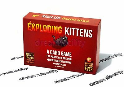 Original Edition Exploding Kittens Card Game Free Shipping