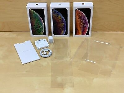 iPHONE X (10) W OEM LENS TAPE- EMPTY BOX & ACCESSORIES (PHONE NOT INCLUDED)