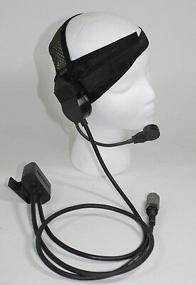 NEW Harris RF-3020-HS003 Headset For AN/PRC-152 & 152A Headphones PTT 5 PIN