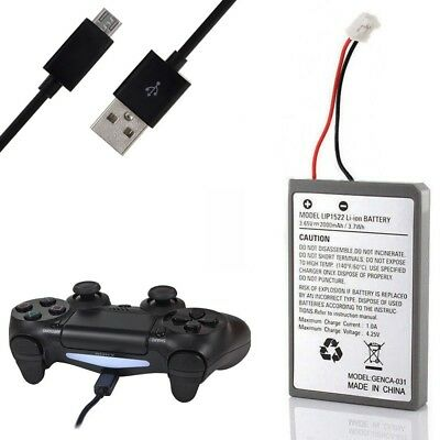 Akku Battery Batterie für Sony PS4 Wireless Controller 2000mAh inkl. Ladekabel