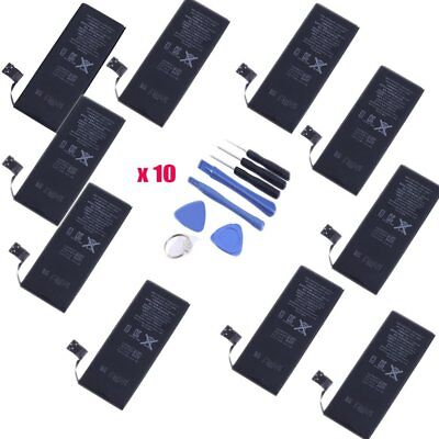 Lot of 10 New 1440mAh 3.8V Replacement Internal Battery For Apple iPhone 5 5G HM