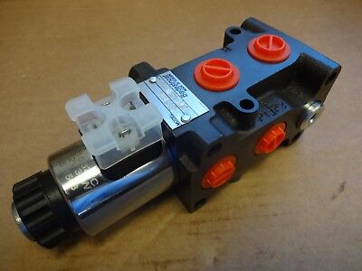 6/2 WAY HYDRAULIC VALVE DIVERTER - DVS6-L 12v 50 L/min - Excavator, Quick Hitch