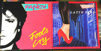 "Vinyl-Maxis (2 St.): Fancy ‎""Fools Cry"" + ""Latin Fire"""