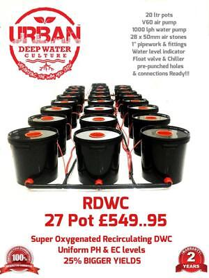 20L 27 Pot System 3Lane For Grow Space 4.5x1.5 M  Clone RDWC DWC Propagator IWS