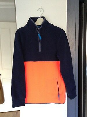 Boys Mini Boden Fleece Zip-up Top Blue WornTwice Lovely Condition Age 9-10 Years