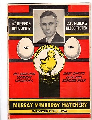 1942 Murray McMurray Hatchery Color Catalog: Poultry, Chickens 32 pp. + 3 insert