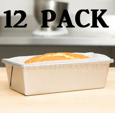 """12 PACK Aluminum Bread Loaf Pan 8"""" x 4"""" Baking 3/4 LB Easy Release Commercial"""