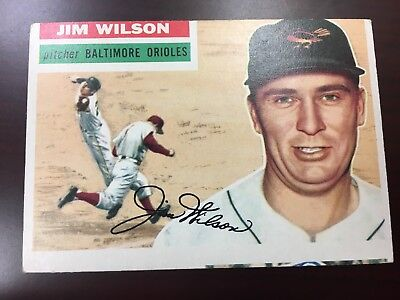 1956 Topps Jim Wilson Baltimore Orioles #171 Baseball Card