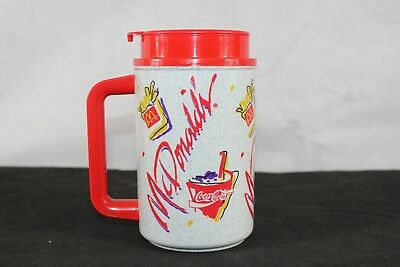 Vintage McDonalds Insulated Thermo Travel Coffee Mug Cup 1992
