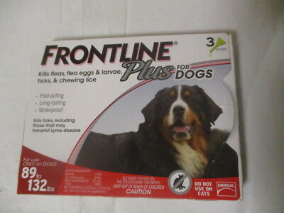 Frontline Plus for Dogs 89-132 lbs - red 3 MONTH//3 DOSES