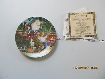 HUMPTY DUMPTY 1992 PLATE keepsake rhymes euc with coa Knowles