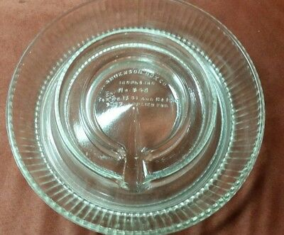 Glass Chicken Waterer/Feeder Base Anderson Box Co Indianapolis, IN #540 -2 chips