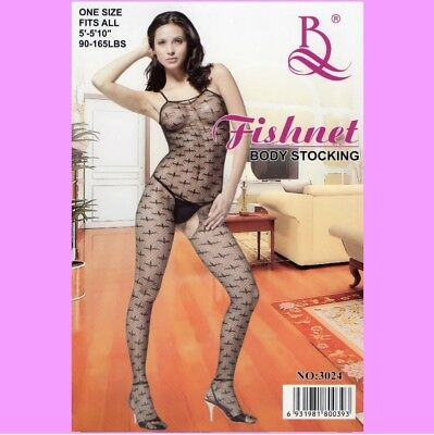 SeXy Body, Catsuit, Bodystocking, ouvert, schwarz transparent, Gr. S- L