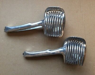 Lot 2 Vtg Kitchen Farmhouse Egg/Tomato Slicer Utensils Tool Cutter Holder Tongs