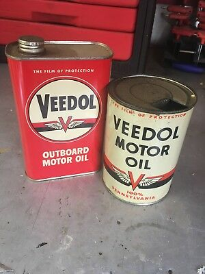 veedol oil cans.