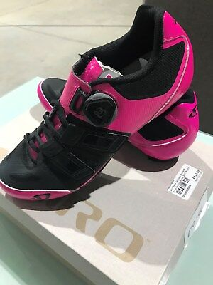 bb6835419c0 Giro Raes Techlace Womens Road Cycling Shoes 2017  Bright Pink Black Size 38