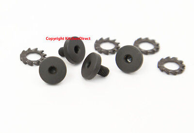 Beretta Factory 92 92FS Allen Hex Head Black Grip Screws + Washers Set EU00015