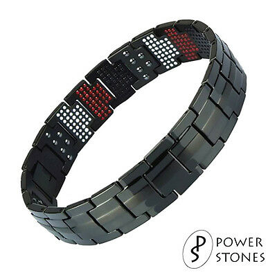 Mens Super Strong Magnetic Therapy Bracelet Bio 4In1 Arthritis Pain Relief 001B