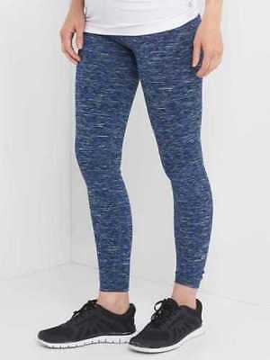 Lot of 2 NWT Gap Maternity Gap fit Panel Pant Leggings Medium Blue Space Dye
