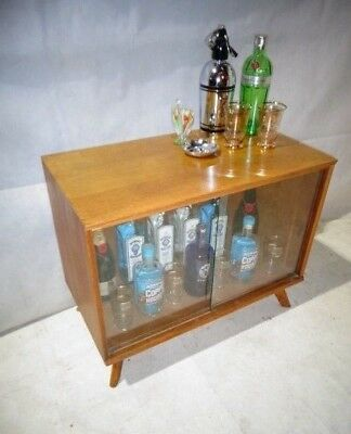 Retro Oak Drinks Cabinet Vintage Home Bar Cocktail Cabinet Mid Century Modern