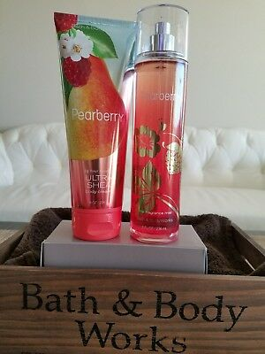 Bath & Body Works PEARBERRY GIFT SET Cream+Mist