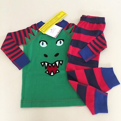 "HANNA ANDERSSON Baby Boy's ""DRAGON"" Cotton Pajama Set, 18-24 months,80 cm NEW"