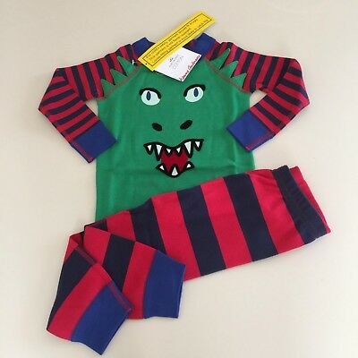 "HANNA ANDERSSON Boy's ""DRAGON"" Cotton Pajama Set, Size 3-4 years 100 cm NEW!!"