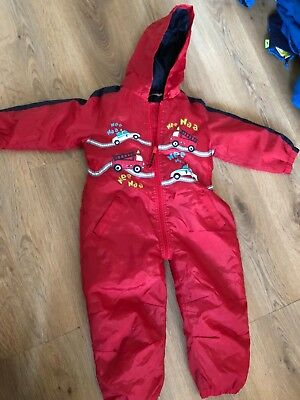 age 2-3 years red all in one waterproofs