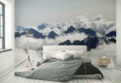 Mountains Clouds Landscape Photo Wallpaper Wall Mural (FW-1076)