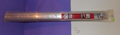 "Vtg NOS NEW Door Threshold Weatherstrip 1 1/8"" H x 3"" W Aluminum Silver High-Rug"