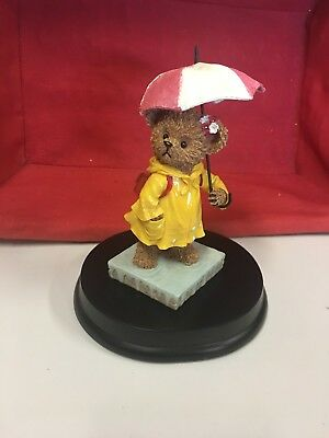 Home Interior Kuddles Korner Bear April . Cute bear dressed in yellow raincoat
