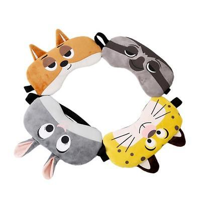 Cute 3D Sleeping Eye Mask Cover Patch Funny Rest Animal Blindfold Travel N7