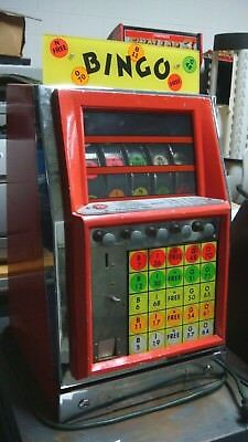 Vintage Table Top Bingo Arcade Game Coin Operated Bright Colorful