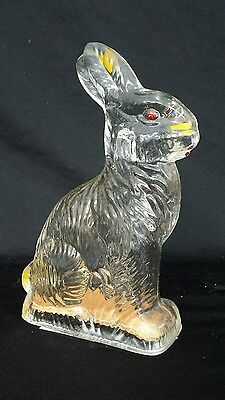 Vintage Peter Rabbit Glass Easter  Candy Container J.h.millstein Co Jeannette Pa