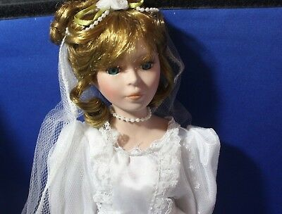 Bride Doll Porcelain Soft Body in Wedding Dress