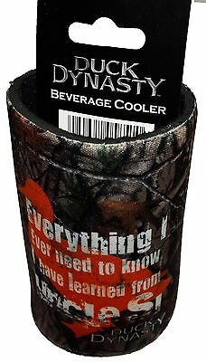 """NEW Duck Dynasty """"EVERYTHING I EVER NEED"""" Beverage Cooler - BROWN can or bottle"""