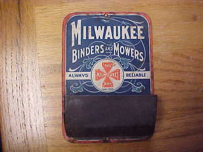 Agriculture collectibles farm mower tin match safe