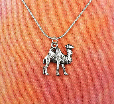 Camel Necklace, Two Humped Asian Mongolian Bactrian Charm Pendant Gift Box 16-36