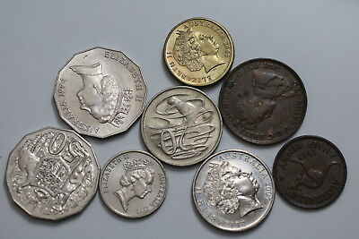 Australia Many Old Coins A76 Zk46