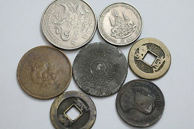 China + Thailand Old Coins A76 Zk11