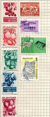 Stamps, Bulgaria 9 stamps  fine/very fine mounted