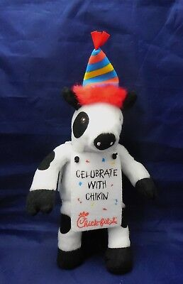 """Chick-fil-a Cow """"CELUBRATE WITH CHIKIN"""" 2012 Fast Food Advertising plush animal"""
