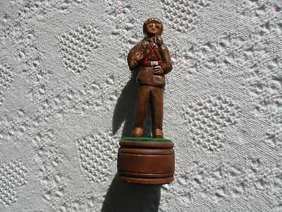 Vintage Folk Art Handcarved Daniel Boone Mountain Man Wood Carving