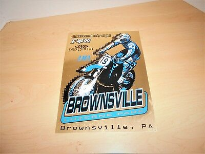 1998 Brownsville Luzerne Park Brownsville,pa. Fox Pro Circuit Actual Race Sign
