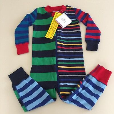 HANNA ANDERSSON Awesome Boys STRIPED Cotton Pajama, Size 2 years, 85 cm NEW!