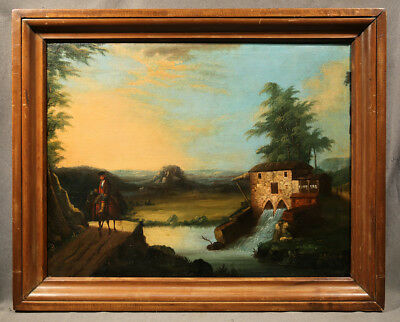 19th Century Oil Painting Landscape signed Thomas Chambers (AMERICAN)